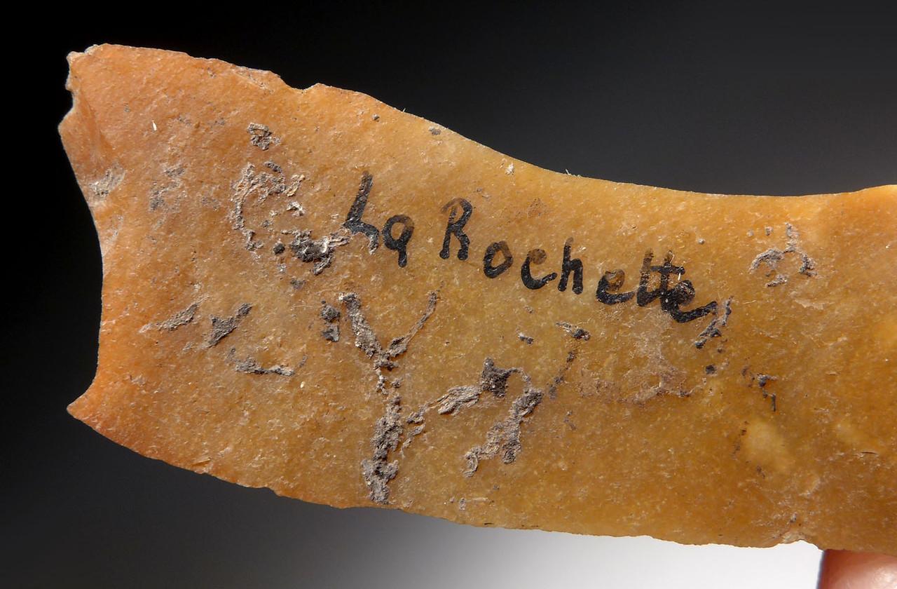 CRO MAGNON UPPER PALEOLITHIC AURIGNACIAN GOLDEN FLINT BLADE OF FAMOUS LA ROCHETTE CAVE FRANCE  *UP046