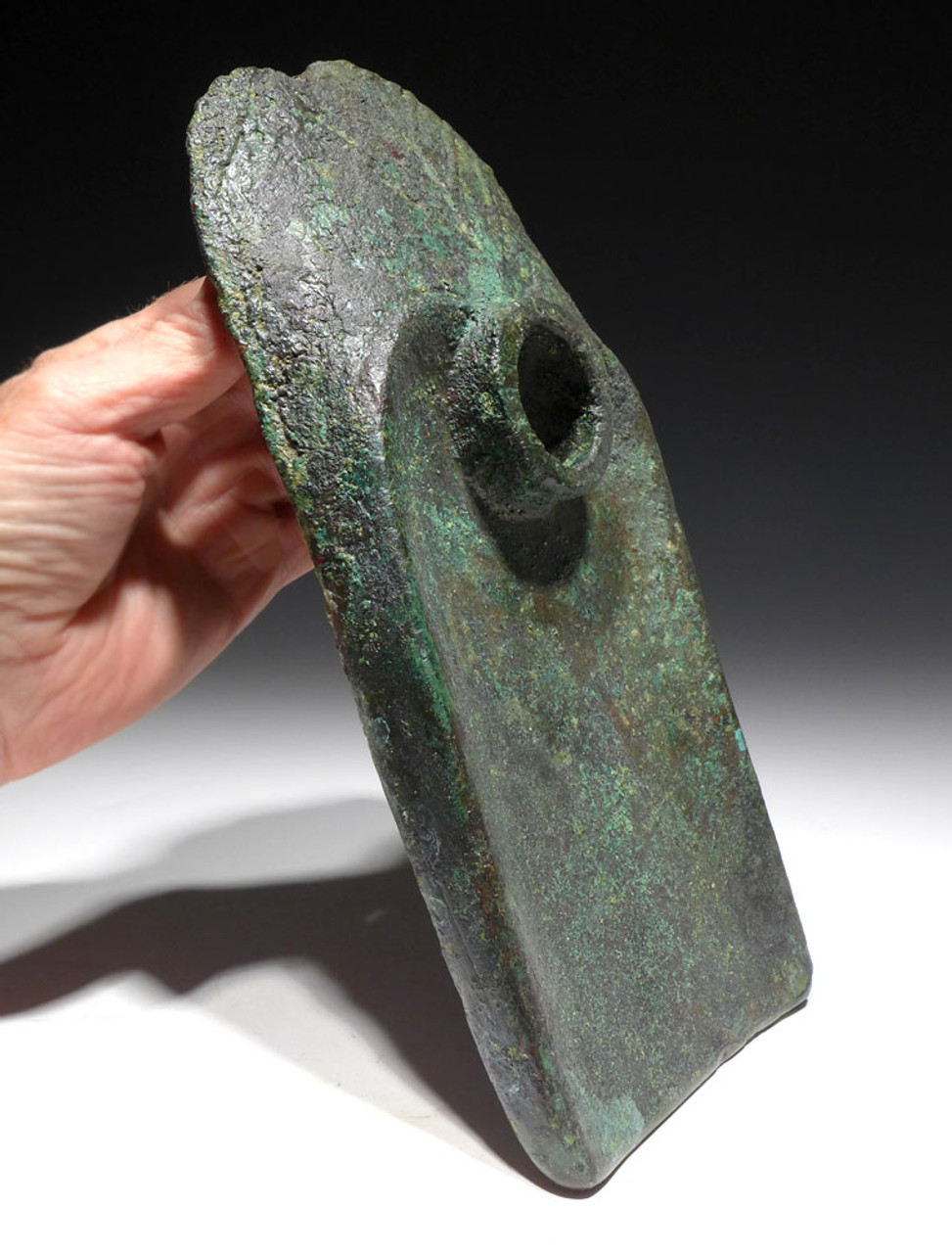 MASSIVE EXTREMELY RARE ROYAL TEMPLE BUILDING ANCIENT BRONZE ENTRENCHING HOE SHOVEL OF NEAR EASTERN BRONZE AGE LURISTAN  *LUR200