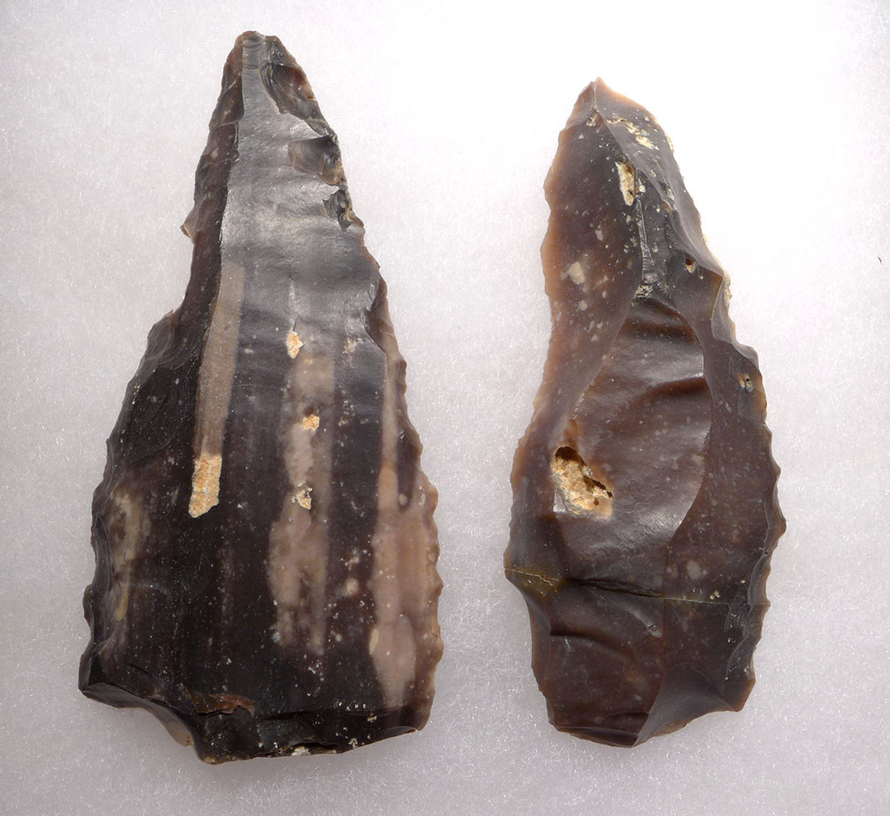TWO LARGE NEOLITHIC FLINT KNIVES OF THE AFRICA CAPSIAN CULTURE  *CAP288