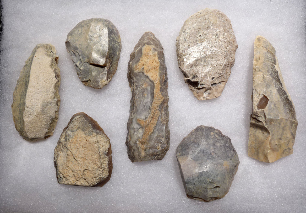 SEVEN SUPREME CAPSIAN AFRICAN NEOLITHIC FLAKE TOOLS FOUND TOGETHER  *CAP277