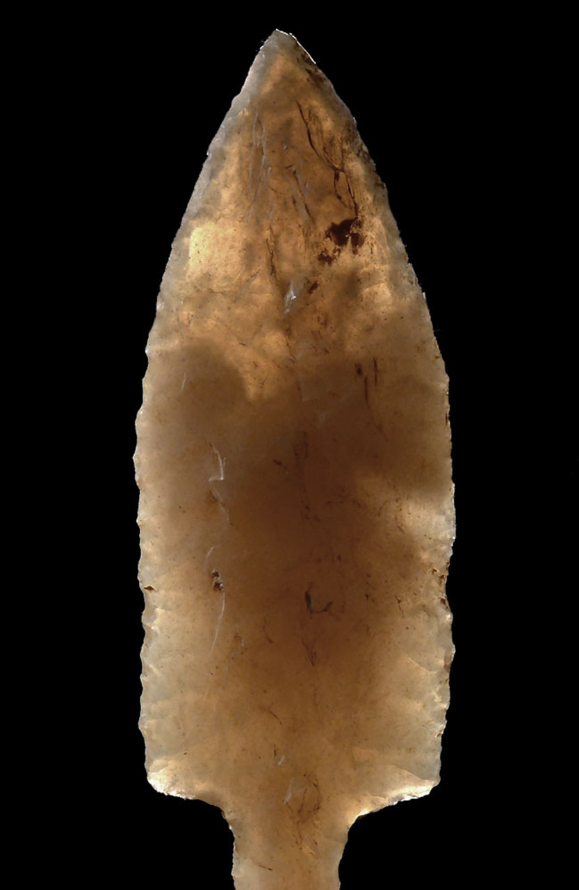 FINEST BIFACIAL TRANSLUCENT TANGED LEAF ARROWHEAD OF THE CAPSIAN AFRICAN NEOLITHIC  *CAP278
