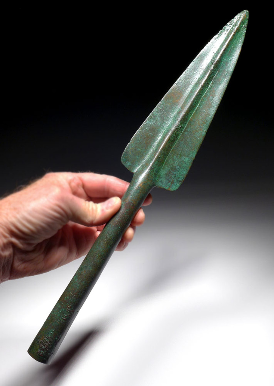 UNUSUALLY LARGE ANCIENT LURISTAN BRONZE ARTILLERY THROWING SPEAR HEAD  *LUR202