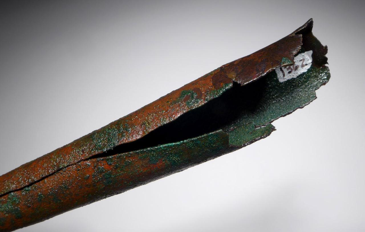 SCARCE PRE-COLUMBIAN MOCHE SOCKETED COPPER SPIKE SPEAR HEAD  *PC342