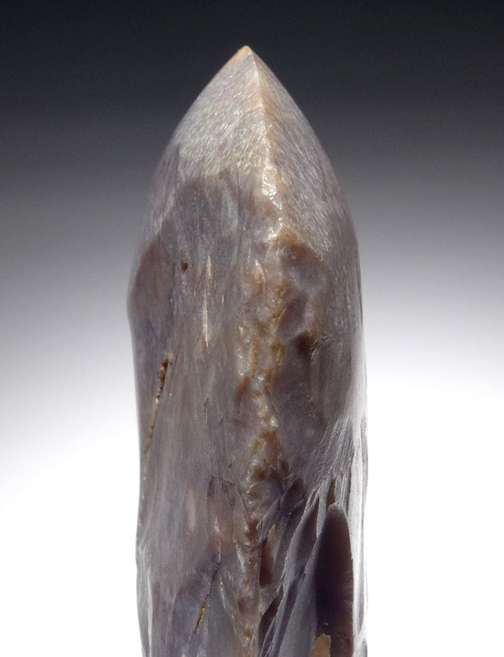 PLUM COLORED FLINT LARGE CAPSIAN AFRICAN NEOLITHIC FLAKED CELT WAR AXE   *CAP295