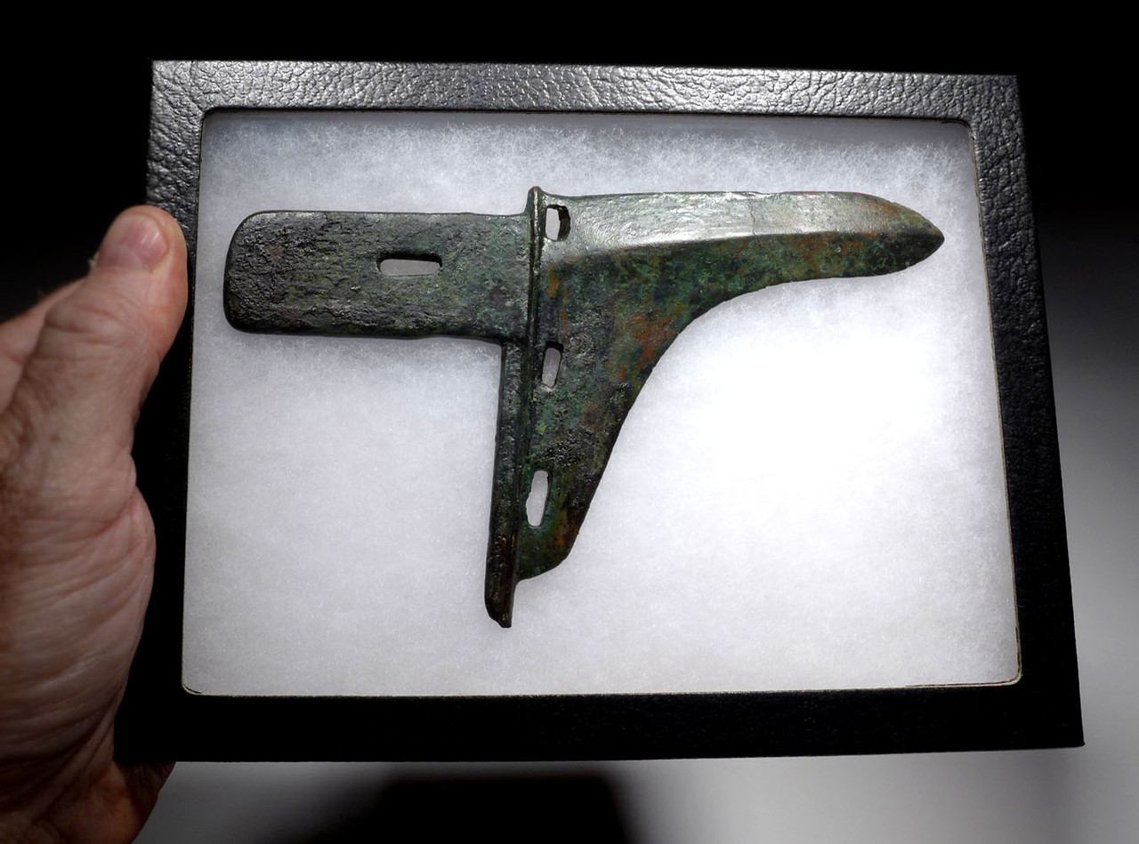 EXCEPTIONAL ANCIENT BRONZE GE DAGGER AXE HEAD FROM THE CHINA ZHOU DYNASTY  *SEA3