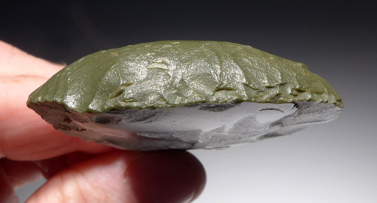 EXCEPTIONAL TENERIAN GREEN JASPER END SCRAPER FROM THE AFRICAN NEOLITHIC PEOPLE OF THE GREEN SAHARA  *CAP316