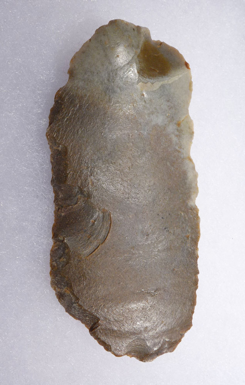 SUPERB COLORFUL FLINT NEANDERTHAL MOUSTERIAN BLADE SIDE SCRAPER FROM CAEN FRANCE  *M441