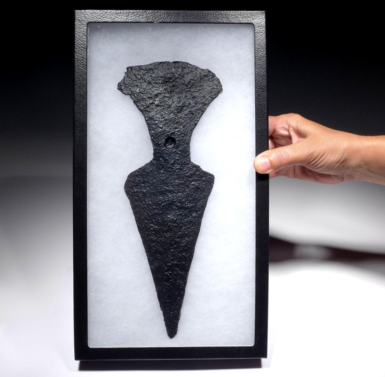 EXTREMELY RARE ANCIENT SAKA SCYTHIAN IRON HORSE CHANFRON HEAD ARMOR PLATE  *R298