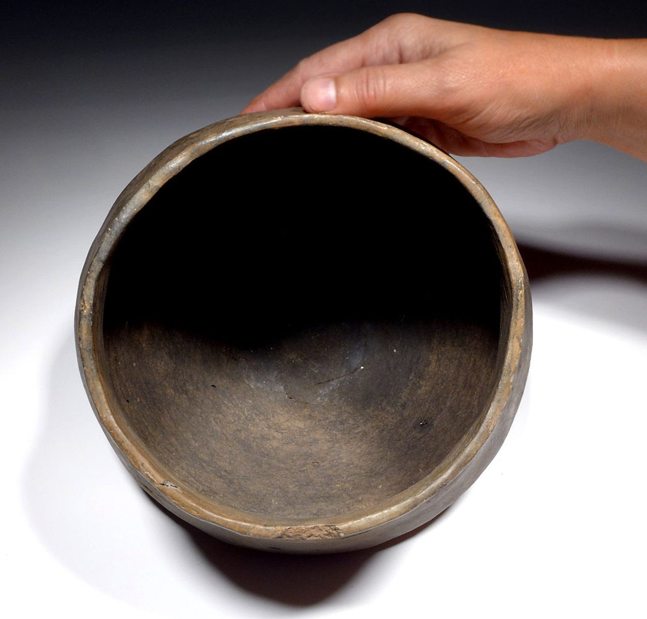 INTACT FLARED EUROPEAN BRONZE AGE CERAMIC URNFIELD VESSEL FROM THE LUSATIAN CULTURE  *URN11