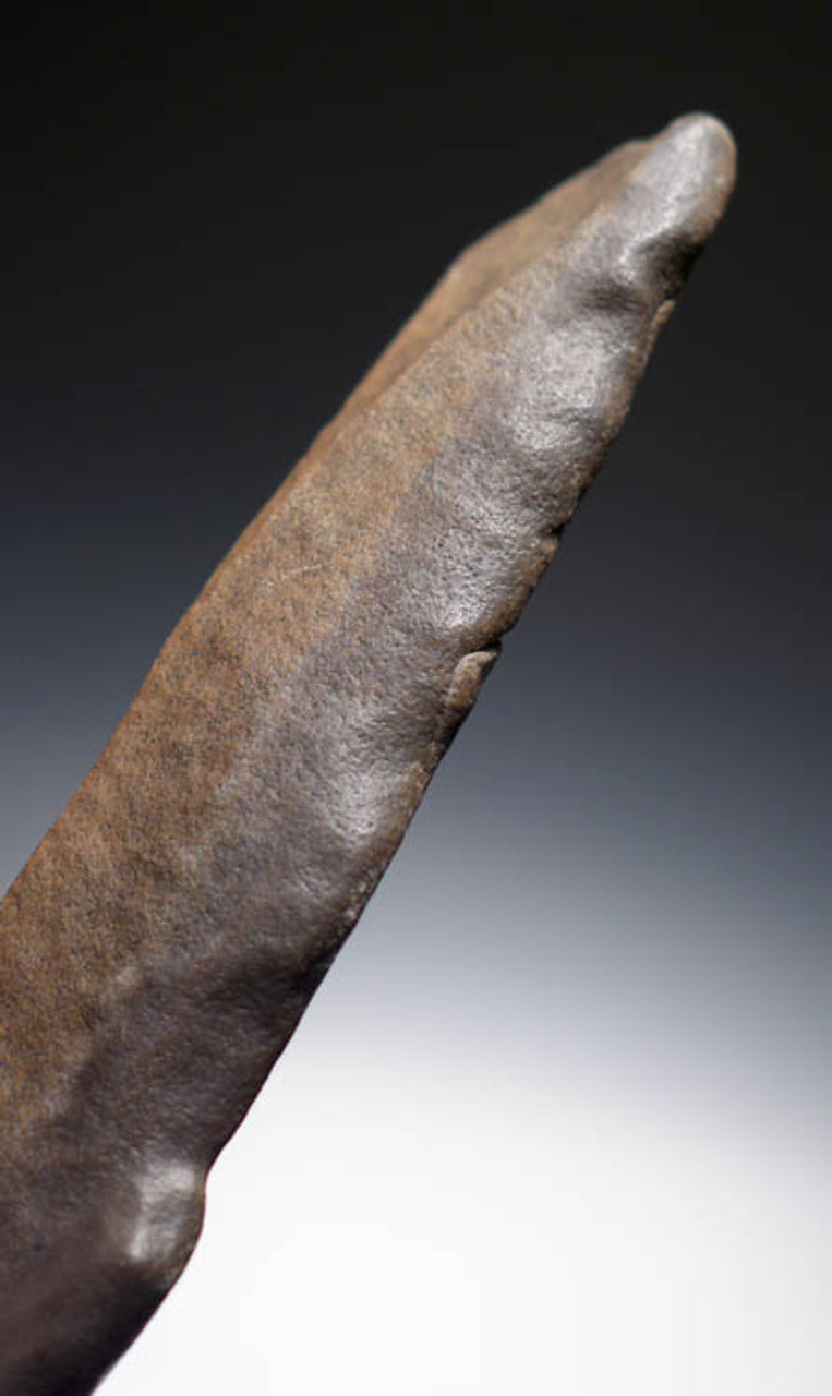 ACH175 - RARE LARGE PREHISTORIC STONE ACHEULIAN KNIFE BLADE TOOL MADE BY HOMO ERGASTER (ERECTUS)
