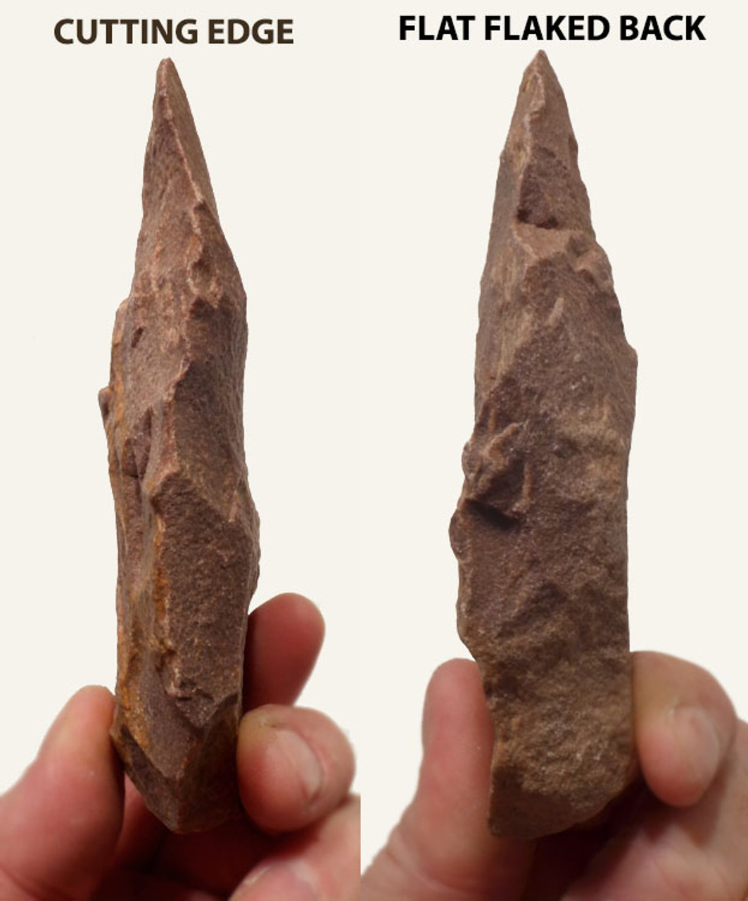 M289 - NORTH AFRICAN NEANDERTHAL MOUSTERIAN BACKED KNIFE WITH SUPERIOR EDGE KNAPPING