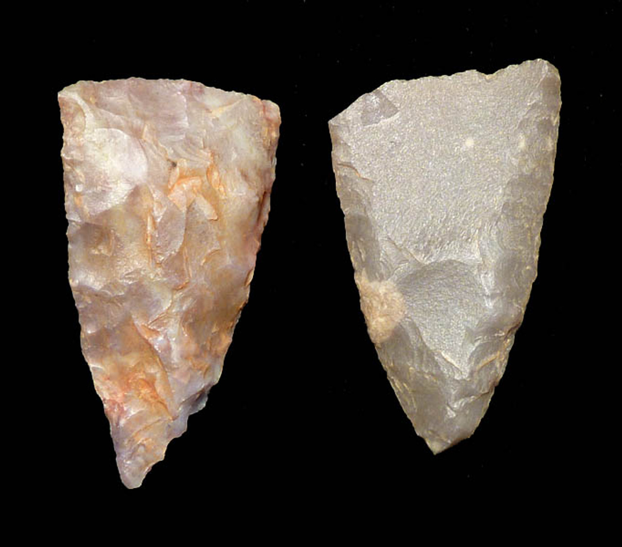 "CAP165 - RARE SET OF TRANSVERSE ""BLEEDING"" AFRICAN NEOLITHIC ARROWHEADS MEANT FOR LARGE GAME"