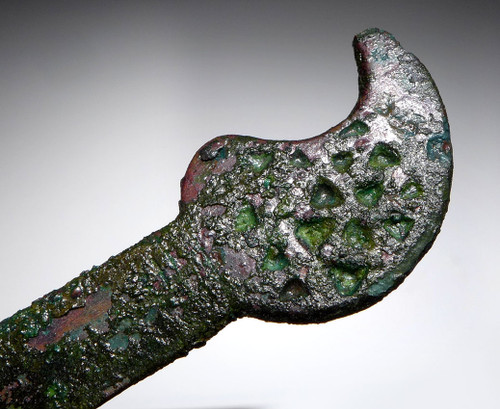 RARE ANCIENT SCYTHIAN BRONZE DECORATIVE KNIFE RAZOR *NE192