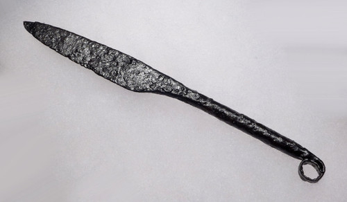 ANCIENT CELTIC IRON RING-HANDLED KNIFE RAZOR *R178
