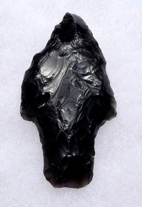 WELL-MADE PRE-COLUMBIAN OBSIDIAN ATLATL SPEARHEAD FROM THE HEFLIN COLLECTION * PC270