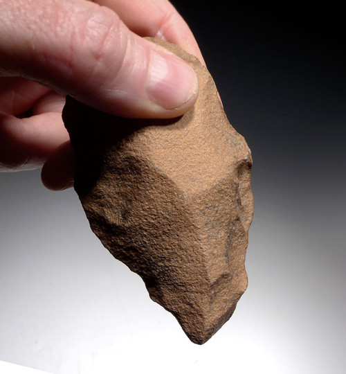 SMALL 3.5 INCH ACHEULIAN QUARTZITE HAND AXE FOR A CHILD? FROM THE LOWER PALEOLITHIC OF AFRICA *ACH266