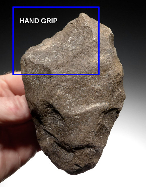 RIGHT-HANDED ACHEULIAN QUARTZITE HAND AXE FROM AFRICA WITH WELL-MADE GRIP *ACH271