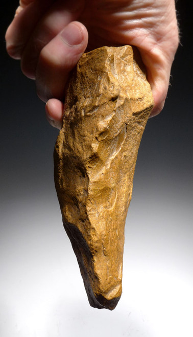 BEAUTIFUL BONE-SMASHING GOLDEN ACHEULIAN QUARTZITE HAND AXE FROM HOMO ERGASTER OF AFRICA *ACH264