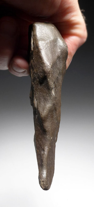 DELICATE TRIANGULAR ACHEULIAN HAND AXE WITH LONG UNBROKEN TIP FROM THE AFRICAN LOWER PALEOLITHIC STONE AGE *ACH257