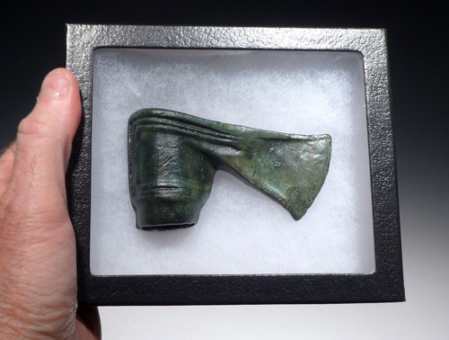 SUPERB DECORATED ANCIENT BRONZE BATTLE AXE FROM THE NEAR EASTERN LURISTAN CULTURE *NEPC006