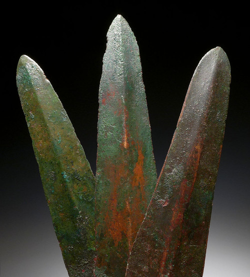 SET OF 3 ANCIENT LURISTAN CAST DAGGER KNIVES FROM THE NEAR EASTERN BRONZE AGE *LUR109
