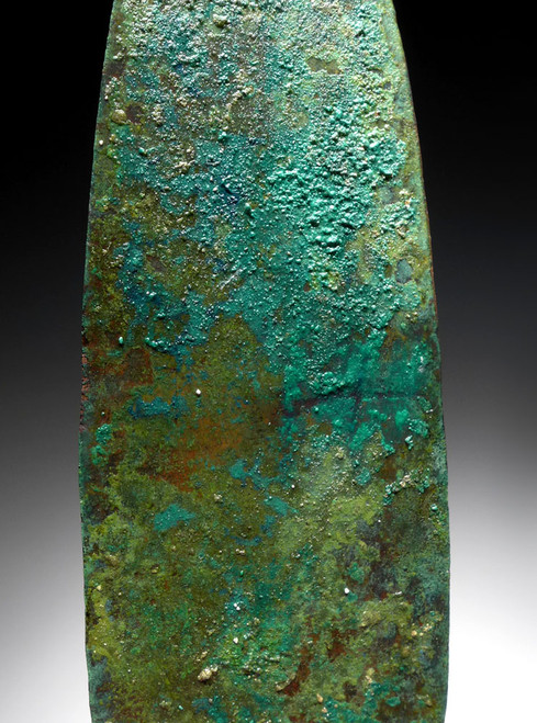 ANCIENT LURISTAN BRONZE KNIFE DAGGER WITH COLORFUL PATINA *LUR127