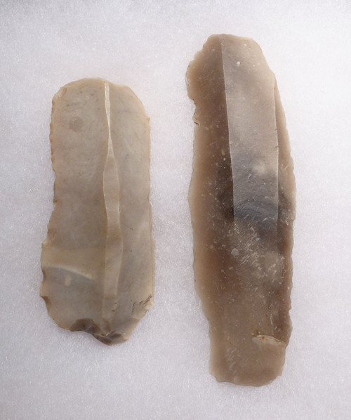 PAIR OF FLINT DANISH NEOLITHIC UNIFACIAL BLADE TOOLS *N177