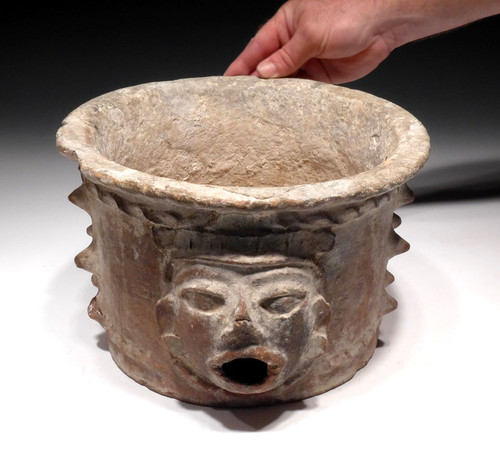MAYAN SACRIFICE POT URN CERAMIC