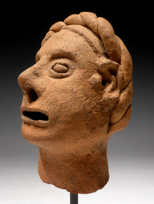 "AZTEC MOTHER GODDESS TONANTZIN STATUE HEAD POSSIBLY ""CHRISTIANIZED"" IN EARLY SPANISH CONTACT *PC129"