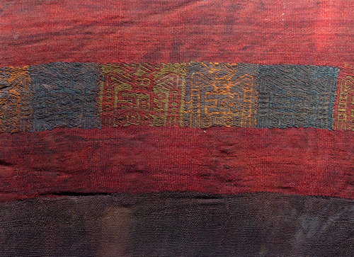 LARGE ANCIENT ALIENS? EX-MUSEUM PRE-COLUMBIAN ANCIENT TEXTILE WEAVING *PCT004