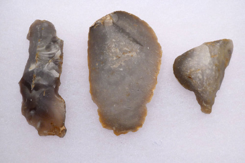SET OF 3 EUROPEAN NEOLITHIC OMALIEN CULTURE FLINT TOOLS *N169
