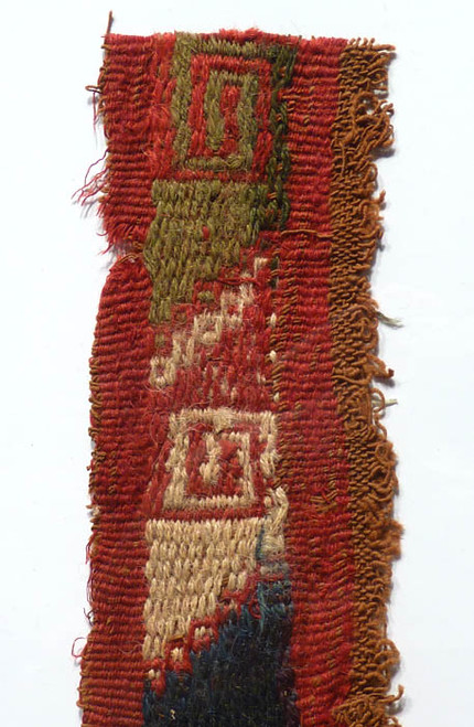 DECORATIVE CHIMU CULTURE PRE-COLUMBIAN WOVEN ANCIENT TEXTILE *PC024