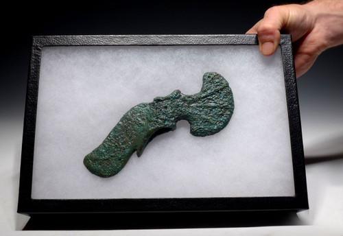 LARGE BRONZE NEAR EASTERN LURISTAN ANCIENT AXE OF ELABORATE DESIGN *NE173