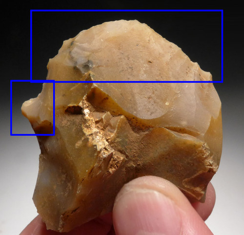 CRO-MAGNON DOUBLE PURPOSE AURIGNACIAN FLAKE TOOL FROM CAVE SITE IN FRANCE *UP020