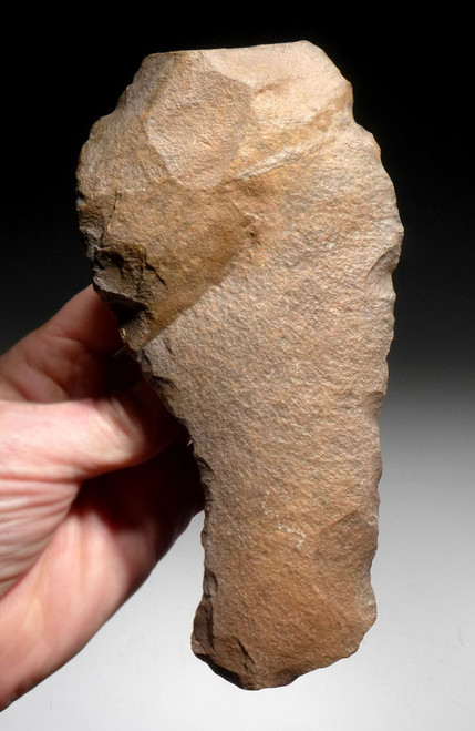 EXPERTLY MADE BONE SMASHING HOMO ERGASTER STONE AGE HAND AXE OF THE ACHEULEAN *ACH280