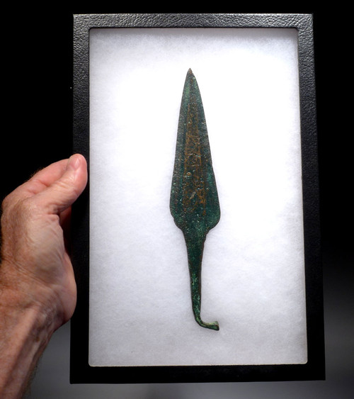ANCIENT BRONZE NEAR EASTERN LURISTAN RAT TAIL SPEAR HEAD *LUR103