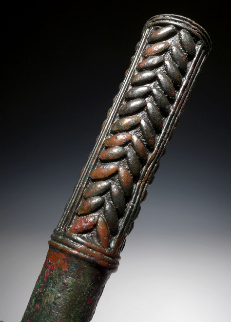 FINEST MUSEUM-CLASS LURISTAN CUDGEL WAR MACE WITH WHEAT DECORATIONS *LUR136