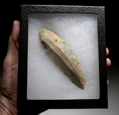 RARE LARGE UNBROKEN FLINT CORE STRUCK BLADE FROM THE AFRICAN CAPSIAN NEOLITHIC *CAP222