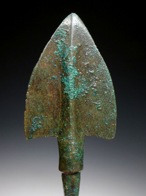 LARGE ANCIENT LURISTAN BRONZE BROADHEAD ARROWHEAD OF THE NEAR EAST *NEPC012