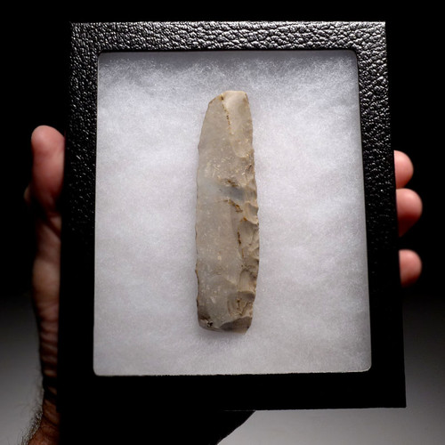 DANISH NEOLITHIC FLINT KNIFE BLADE OF THE FINEST WORKMANSHIP  *N167