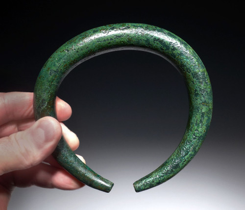 OUR LARGEST EVER MASSIVE SOLID LURISTAN BRONZE ANCIENT PRESTIGE BANGLE BRACELET / ANKLET  *LUR145