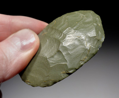 OVATE GREEN JASPER SCRAPER FROM THE TENERIAN AFRICAN NEOLITHIC PEOPLE OF THE GREEN SAHARA *CAP242