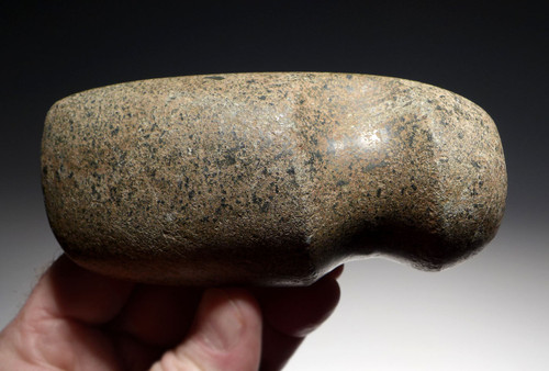 FIENST COMPLETE PRE-COLUMBIAN STONE WAR AXE OF THE WEST MEXICO SHAFT TOMB CULTURE EX-HEFLIN COLLECTION  *PC297