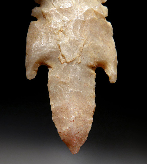 FINEST LONG TANGED DOUBLE NOTCHED ARROWHEAD OF THE CAPSIAN AFRICAN NEOLITHIC  *CAP259