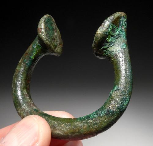 NOBLE CLASS ANCIENT CELTIC BRONZE BABY BRACELET CUFF RING  *CEL015