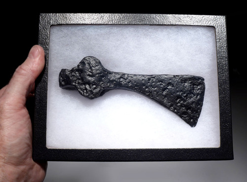 VARANGIAN GUARD ANCIENT ARMOR-PIERCING AXE FROM THE ROMAN BYZANTINE MILITARY  *R263