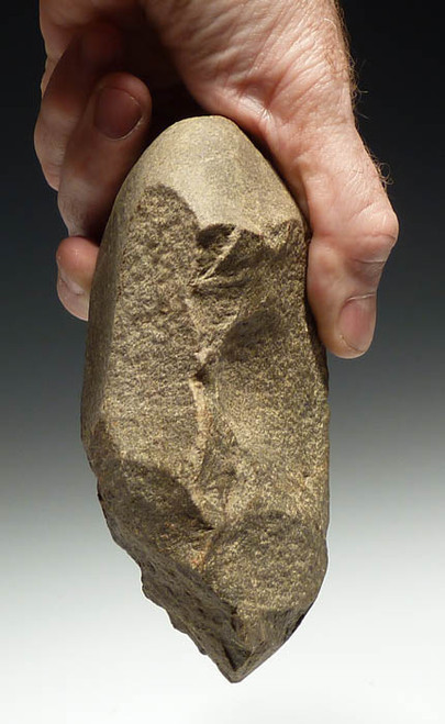 LARGE ROBUST FRENCH EUROPEAN LOWER PALEOLITHIC ACHEULEAN HANDAXE FROM HAUTE GARONNE  *PB075