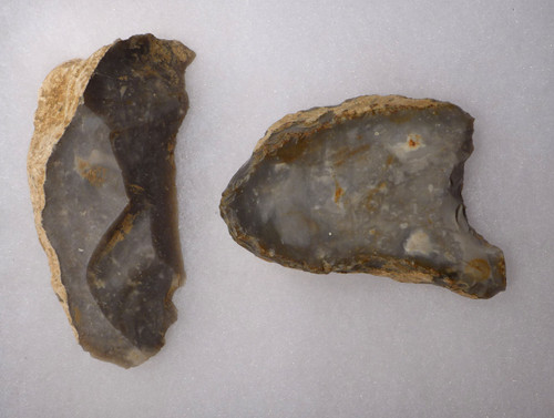 TWO SUPREME NEOLITHIC OMALIEN CULTURE FLINT TOOLS FROM BELGIUM  *N197