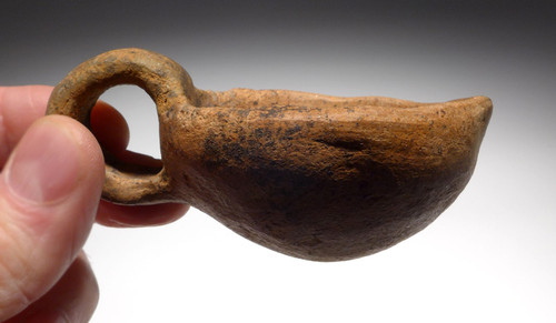 ANCIENT EUROPEAN URNFIELD CERAMIC SERVING LADLE DIPPER FROM THE LAUSITZ CULTURE  *URN7