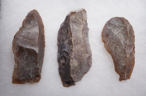 THREE CHOICE AFRICAN NEOLITHIC FLINT FLAKE TOOLS FROM THE CAPSIAN CULTURE  *CAP267